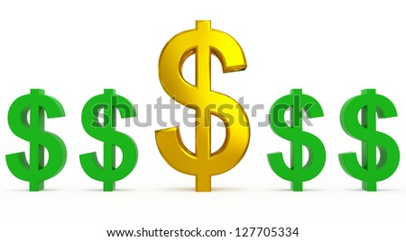 dollar supply - stock photo