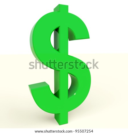 Dollar Symbol Showing Money Or Investments In The Usa