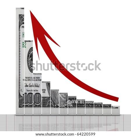 Dollar up symbol