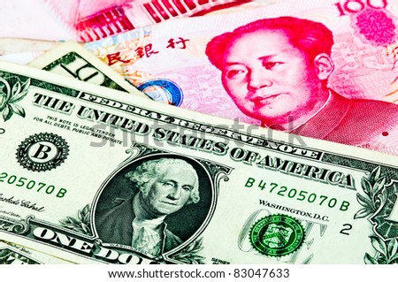 Dollar USA vs RMB Chinese Crisis Economic of the world