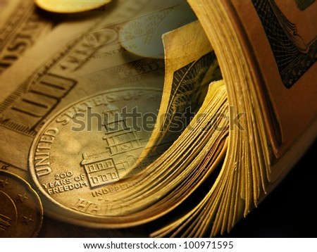 Dollars background. Finance concept. - stock photo