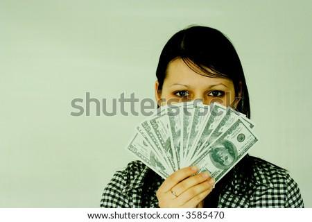 dollars businesses females finance women girls paper green