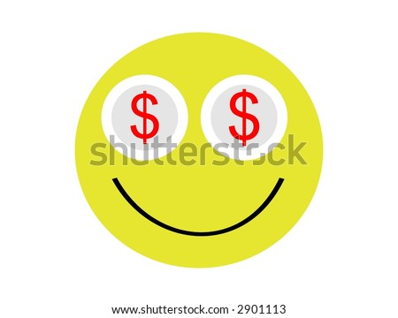 Dollars eyes emoticon