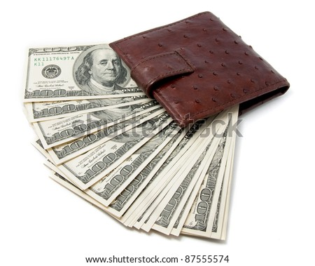 Dollars in a wallet