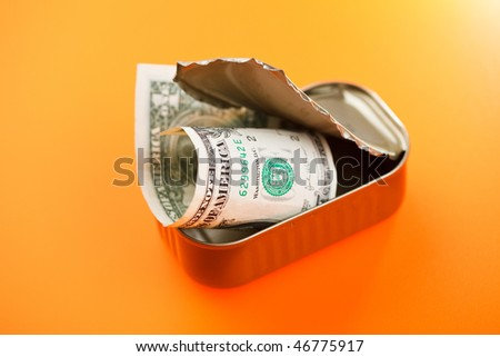 dollars in sardines can