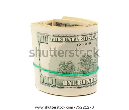 dollars isolated on a white background
