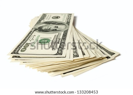 dollars isolated on white