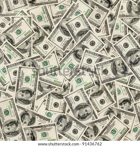 Dollars seamless background. High resolution seamless texture - stock photo