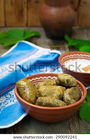 Dolma - a traditional Greek dish