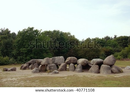 Dolmen, a megalithic tomb in the Netherlands