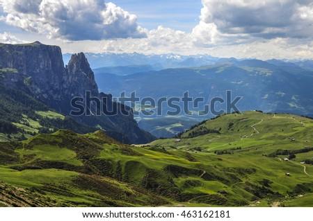 Dolomite, Tierser Alps, Sud Tirol, Italy - Shutterstock ID 463162181