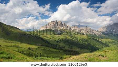 Dolomites, Col di Lana neighbourhood