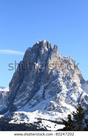 Dolomites mountain or the Italian Alps, unesco natural world heritage in Italy