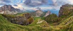 Dolomites mountain panorama at spring