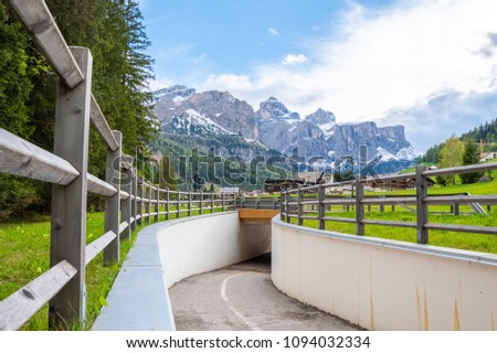 Dolomites mountains and lakes photography, Italy south tirol #1094032334