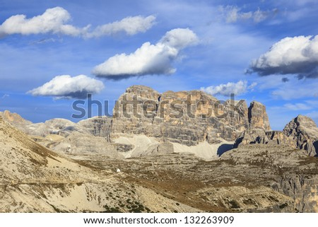 Dolomites mountains peaks in the Alps
