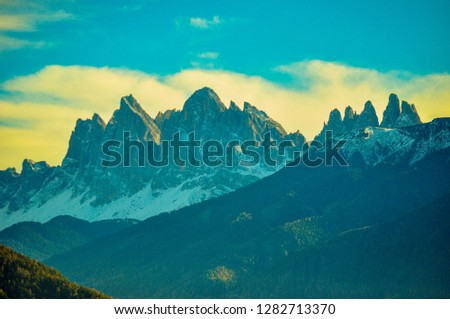 Dolomiti mountains in Trentino, Italy #1282713370
