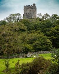 Dolwyddelan Castle near Dolwyddelan, Conwy County Borough in North Wales