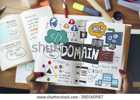 Domain Layout Address Share Content Concept Stock photo ©
