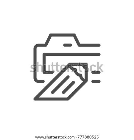 Domain line icon isolated on white