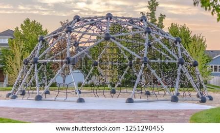 Dome climbing frame in Daybreak Utah neighborhood