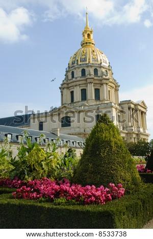 Dome des Invalides in Paris, France.