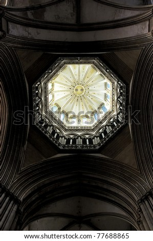 dome light from the big cathedral in Coutanses france