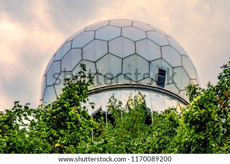 Dome of a deserted and dilapidated station on the