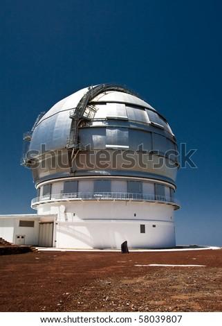 Dome of astronomy observatory GTC on Roque de los Muchachos, La Palma