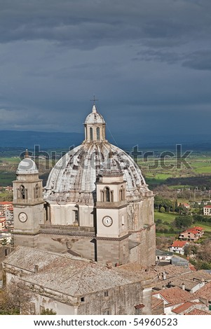 dome of  San Margarethen in  Montefiascone