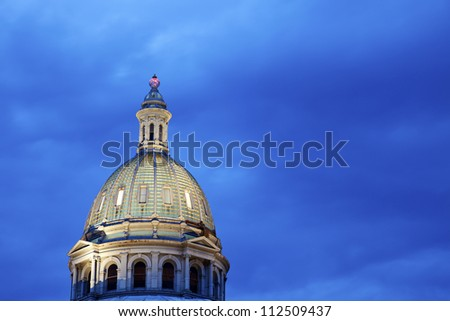 Dome of State Capitol Building in Colorado