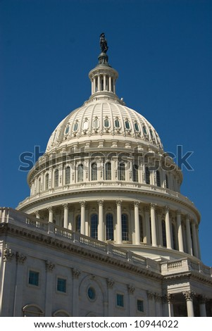 Dome of the Capitol Building in Washington DC, United States of America