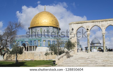 dome of the rock  jerusalem ...
