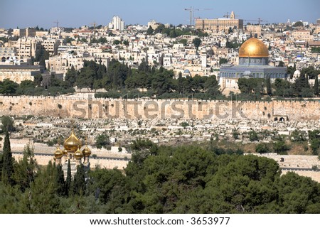 Dome of the Rock & Mary magdalene church, Old Jerusalem