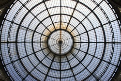 Dome of Vittorio Emanuele gallery in Milan, Italy