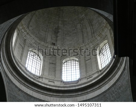 Dome view from inside a cathedral