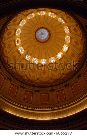 Domed Ceiling Rotunda, California State Capital Building