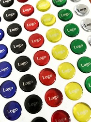 Domed labels are digital printing, pressure-sensitive labels that have thick and polyurethane coating. Round shaped and domes silver colored sticker.