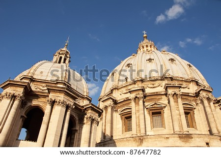 Domes of the Basilica of St. Peter in the Vatican, Rome