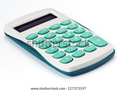 domestic small calculator, green key