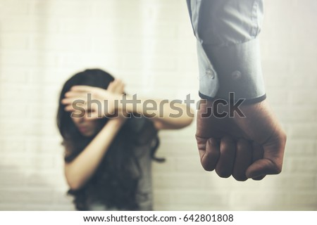 domestic violence concept with...