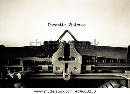 domestic violence words typed...