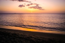 Dominica Beach Landscape at Sunset