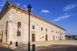 Dominican Republic, Santo Domingo . Museo (museum) de las Casas Reales, the exterior