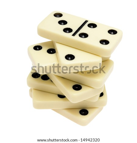 Domino isolated on white background.