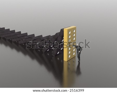 domino (see more in portfolio) - stock photo