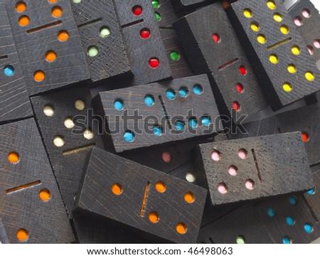 dominoes, closeup #46498063