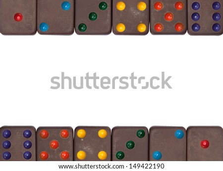 Dominoes game isolated background