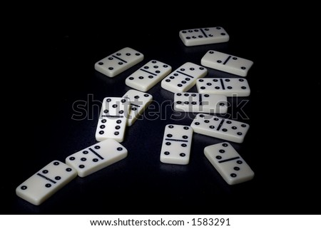 dominoes with the black background