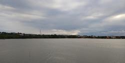 Dompak island on a clear morning